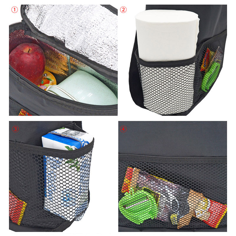 Multifunction Car Seat Organizer Mummy Bags Baby Insulation Feeding Milk Breast Bottle Thermal Tissue Storage Hanging Bag CL5340