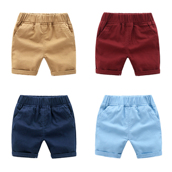 2019 Baby Boys Shorts Solid Beach Shorts Pants for Children Korean Baby Boy Summer Shorts Cotton Kids Leisure Shorts 2-6Y фото
