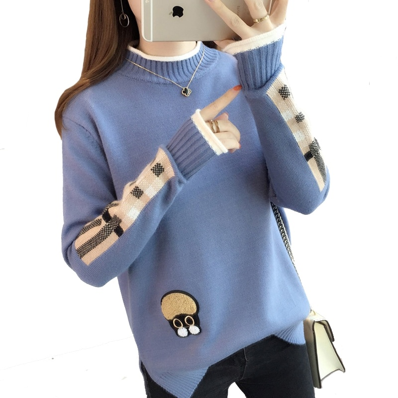 Fashion Christmas Sweater Female Autumn And Winter Round Neck Loose Thick Knitting Pullovers Sweater Jersey Women Plus Size