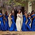 2017 escuro dos azuis marinhos bling mermaid longo vestidos custom made lantejoulas halter maid of honor formal da dama de honra vestidos de loja online