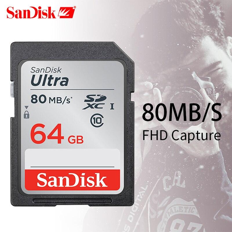SanDisk Ultra 32 gb 16 gb 64 gb Class 10 SD SDHC SDXC Speicher Karte in sd-karte 128 gb 80 mb/s für Kamera Unterstützung Offizielle Überprüfung