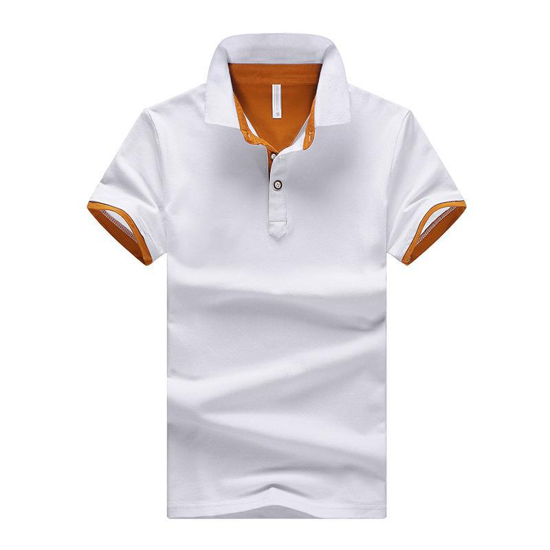 Tees   Polo   male Solid Color Men's   Polo   Shirt High Quality Men Cotton Short-Sleeved Shirt Summer Shirt Large Size M-4XL