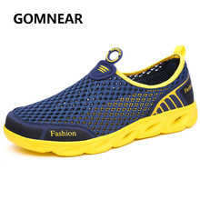 2017 Spring/Summer Mens Aqua Shoes Mesh Breathable Quick Dry Shoes Lightweight Outdoor Water Sneakers Beach Journey Gray Blue