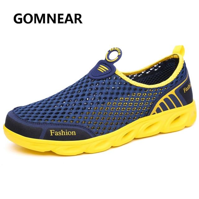 Men's Water Sneakers Summer Beach Aqua Breathable Mesh Athletic Shoes