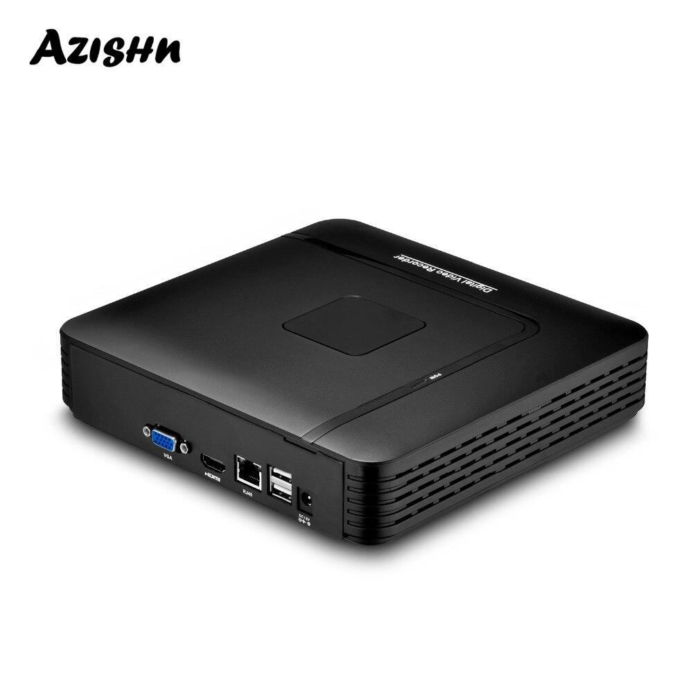 AZISHN H.265 CCTV NVR 16CH 5MP/8CH 4MP 5MP ONVIF Detecção de Movimento Gravador De Vídeo De Segurança Máxima P2P HDMI VGA FTP XMEye NVR CCTV