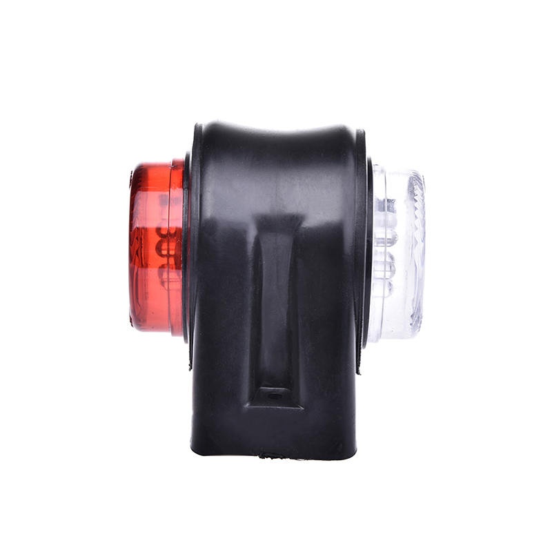 1 Pair 12 LED Double Elbow Side Marker Lights Indicator Lamp for 12V 24V Truck Trailer Caravan Red White in Car Light Assembly from Automobiles Motorcycles