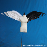 Big props for Grand Event nice birthday gifts white angel fairy wings DIY decorations for Wedding party EMS Free shipping