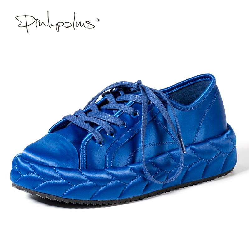 Rosa Palmas Mulheres Sapatos Cor Sólida Sapatos de Plataforma Plana Dedo Do Pé Redondo Rendas até Plataforma Costura Moda Casual sapatos Baixos