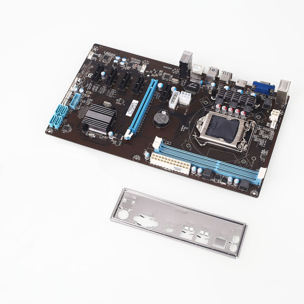 AMZDEAL H81 High Speed Mining Motherboard Extender Riser Card PCI-E 1X Integrated Graphics Module PCI Express for BTC Mining уголок jif 30408