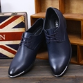 Spring And Autumn Men Shoes Formal Casual Commercial Pointed Toe Leather Men Fashion Flats Breathable Single Shoes Fashion