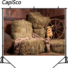 Capisco 농장 헛간 건초 더미 옥수수 인테리어 장면 아기 사진 배경 사진 스튜디오에 대한 사용자 지정 사진 배경