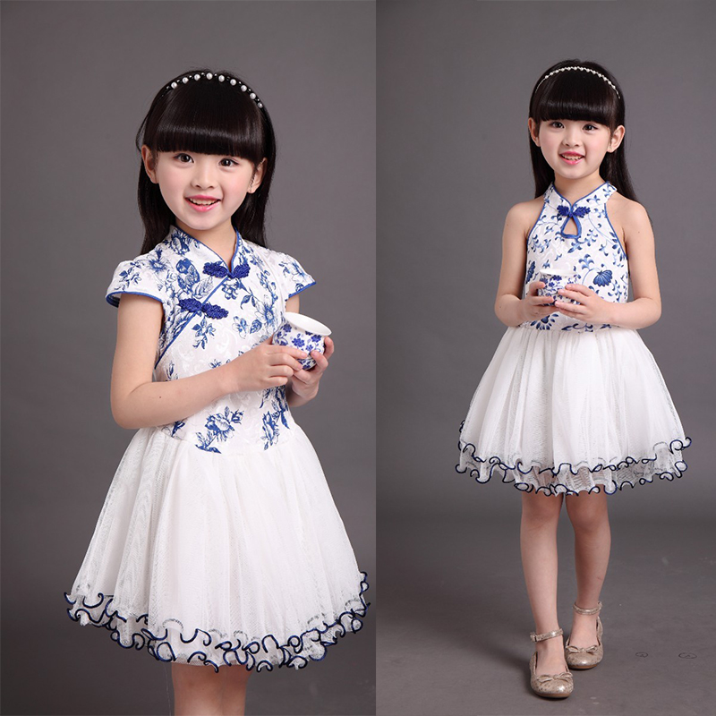 US $13 99 |Tangzhuang clothing chinese traditional dress girl princess  clothes princess flower print children clothing manufacturers china-in  Dresses
