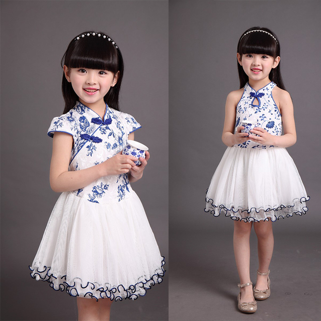 US $14 99 |Tangzhuang clothing chinese traditional dress girl princess  clothes princess flower print children clothing manufacturers china-in  Dresses