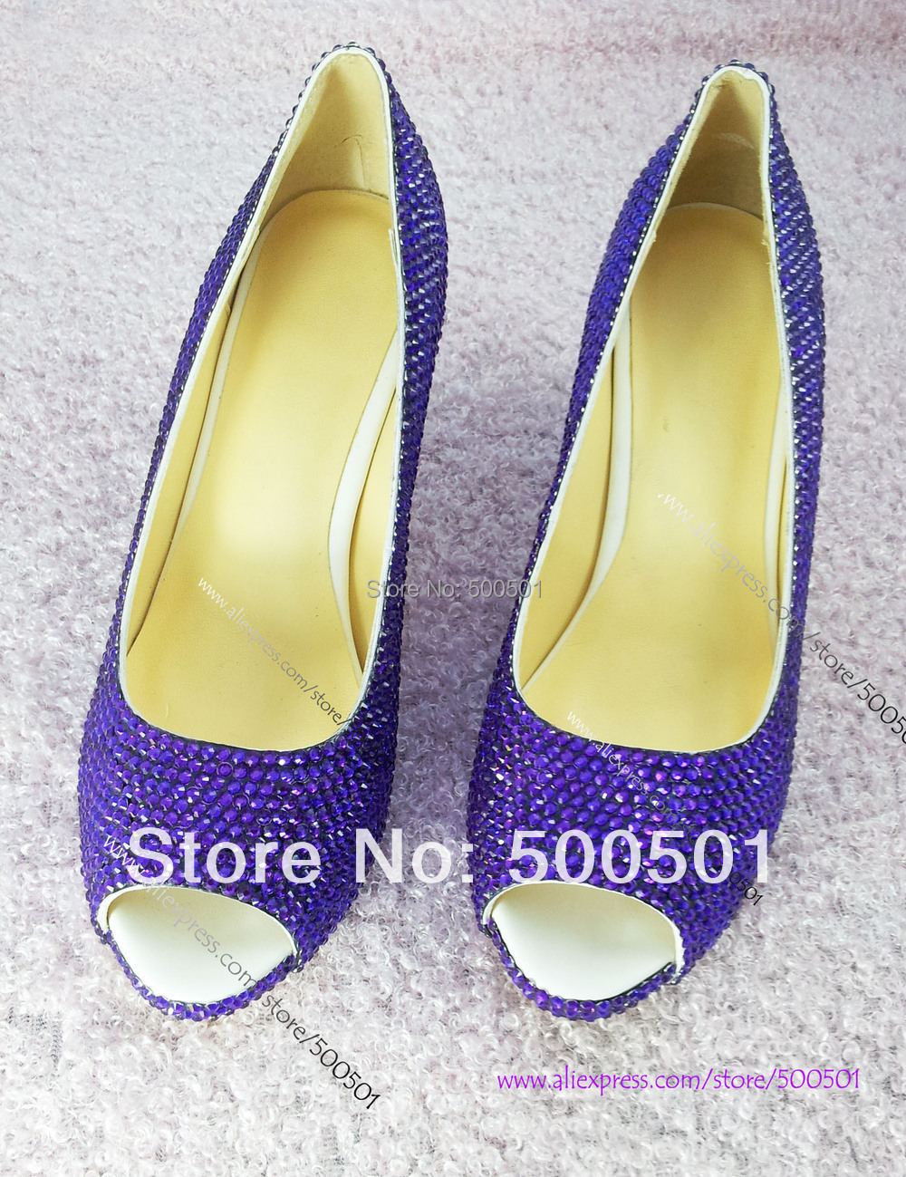 Aliexpress.com : Buy Womens low HEEL FASHION SHOES sparkly CRYSTAL ...