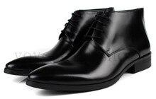 Мода черный/коричневый загар мужские ботинки платья обувь из натуральной кожи мужские деловые туфли офис рабочая обувь бесплатная доставка
