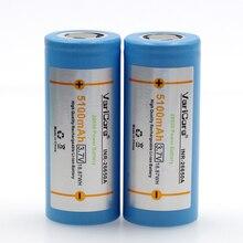 Varicore 26650 lityum pil, 3.7 V 5100 mAh, 26650 şarj edilebilir pil, 26650 50a için uygun el feneri,