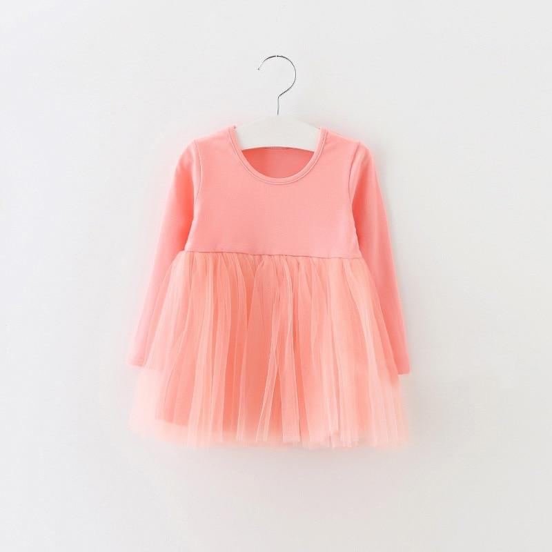 2018 Summer Baby Girl Dresses Infant Dress Born Girls Clothes Babys Cotton Long Sleeve Kids 0-4 Years Birthday Dresses New цена