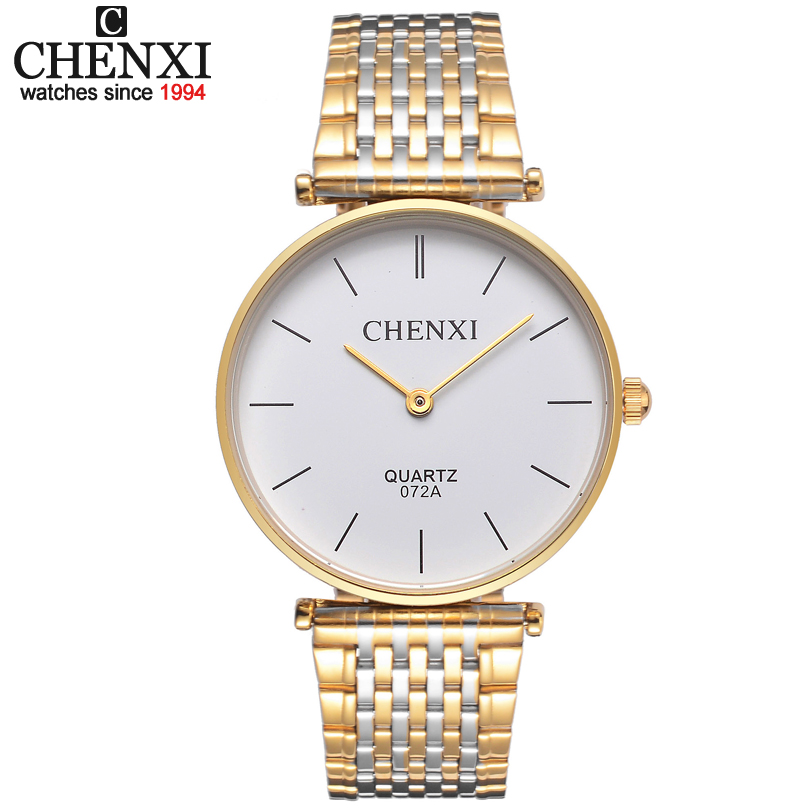 Ultrathin Couple Watches For Men Waterproof Stainless Steel Watch Male Table Women Quartz Watch  Female Form Valentines Day Gift