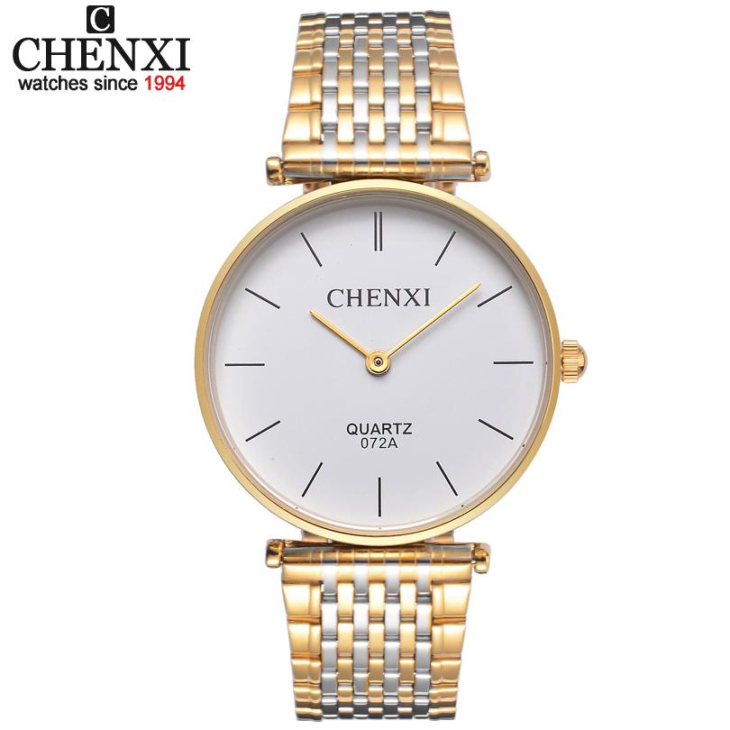 Prix pour Ultra-mince couple montres pour hommes montre en acier inoxydable étanche mâle tableau Femmes montre à quartz forme féminine Saint Valentin cadeau