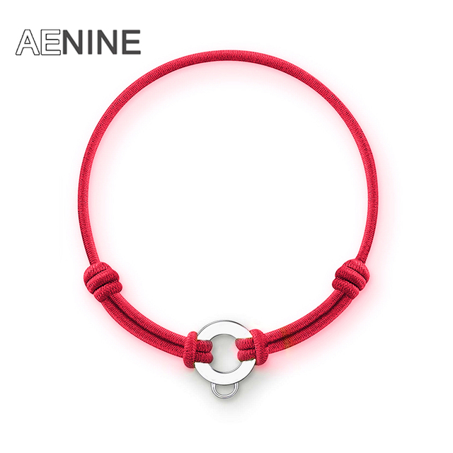 AENINE Trendy Colorful Cotton Rubber Girls Bracelets Bangles Jewelry Adjustable Elastic Diy Charms Bracelets For Women TSBR007