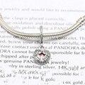 925 sterling silver angel alas en forma de corazón borrar cz & rosa Esmalte Charm Bracelet Fit Marca Corazón Encantos de La Joyería DIY haciendo