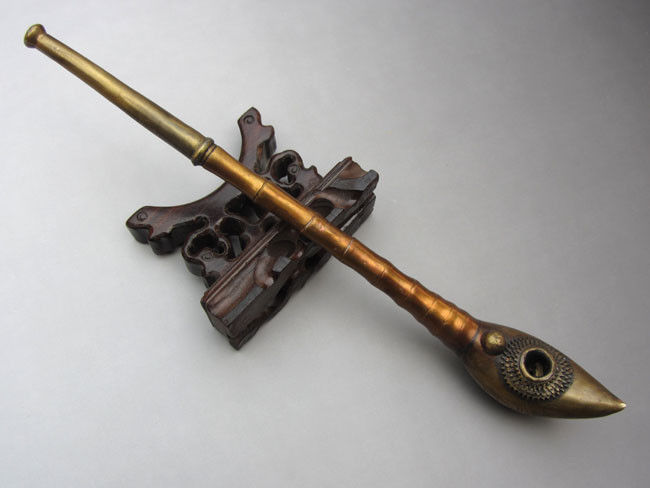 superb Collection chinese brass copper handwork Water smoking tool pipe