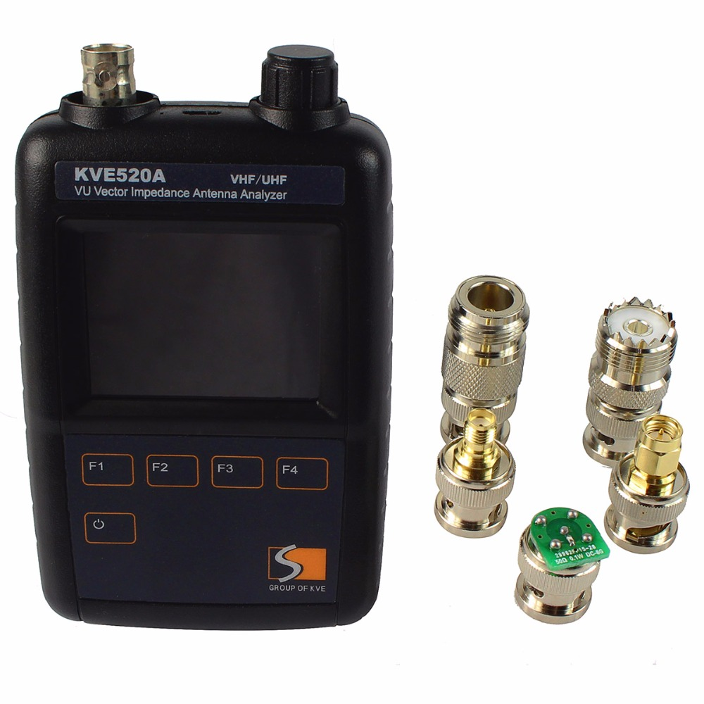 VHF/UHF Color Graphic Vector Impedance Antenna Analyzer KVE520A With 5 Connectors Walkie Talkie Accessories J6558A