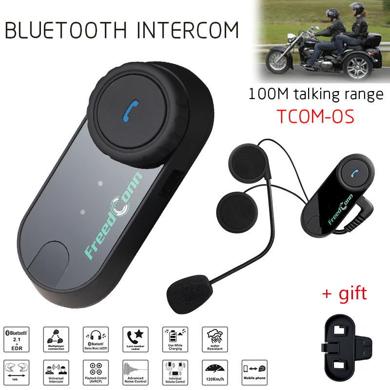 Freedconn Brand 100m TOM OS Motorcycle Helmet Intercom BT Headset Sport Earphone Helmets Interphone Bluetooth Intercomunicador