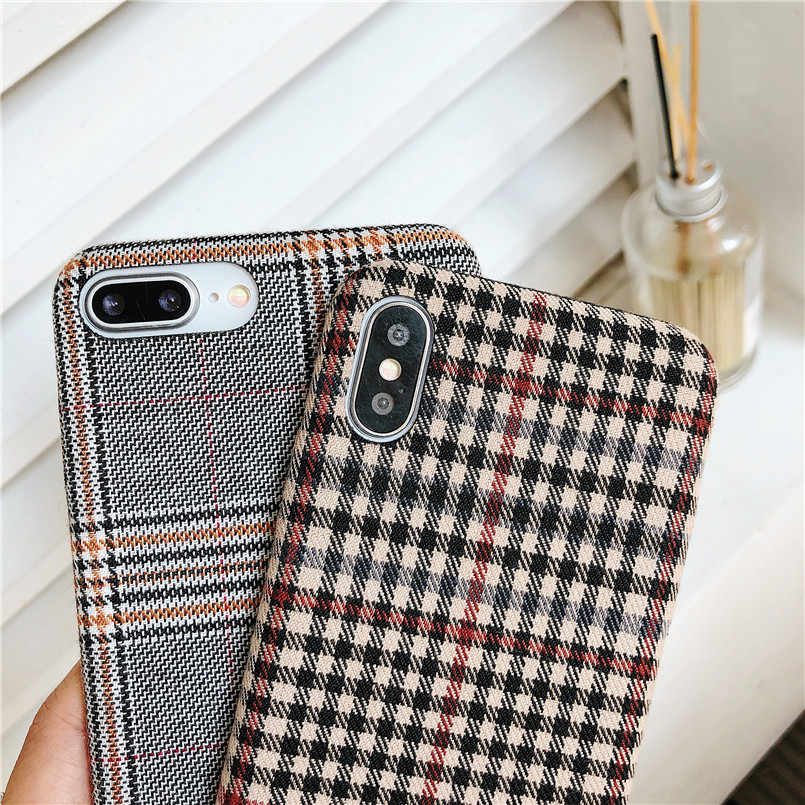 tartan iphone xs case