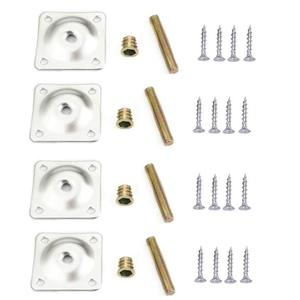 Image 3 - 8 Sets Furniture Leg Mounting Plates with Hanger Bolts Screws Great for Furniture Sofas Couches Seats