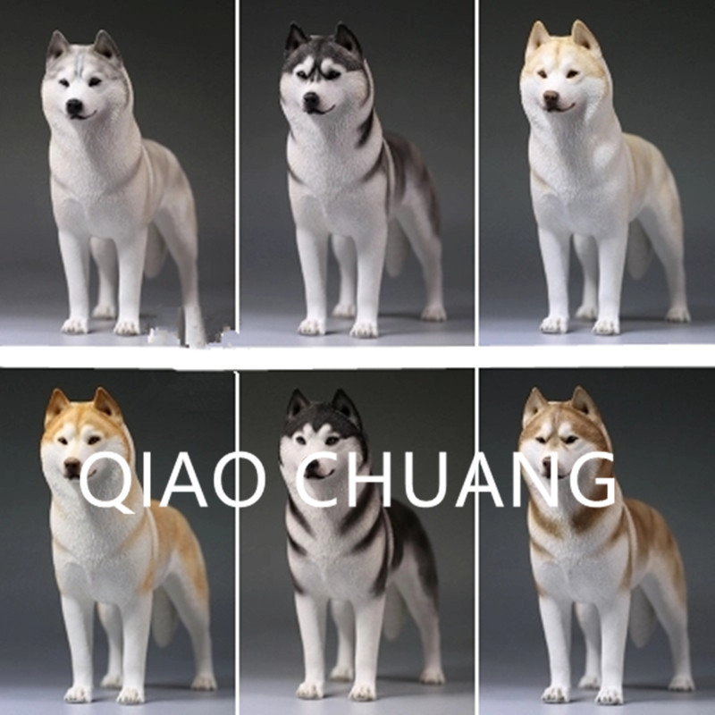 Creative World Famous Dog Home Furnishing Articles Colophony Crafts 1/6 Simulation Sled Dog Siberian Husky Animal Model Toy G920 mnotht new 1 6 scale siberian husky model simulation animal pet dog model toys for 12in soldier toy scene collections hobbies