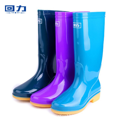 2018 Pull back rain boots New stylish waterproof women rain boots tendon thick wear-resistant anti-skid high shoes ...