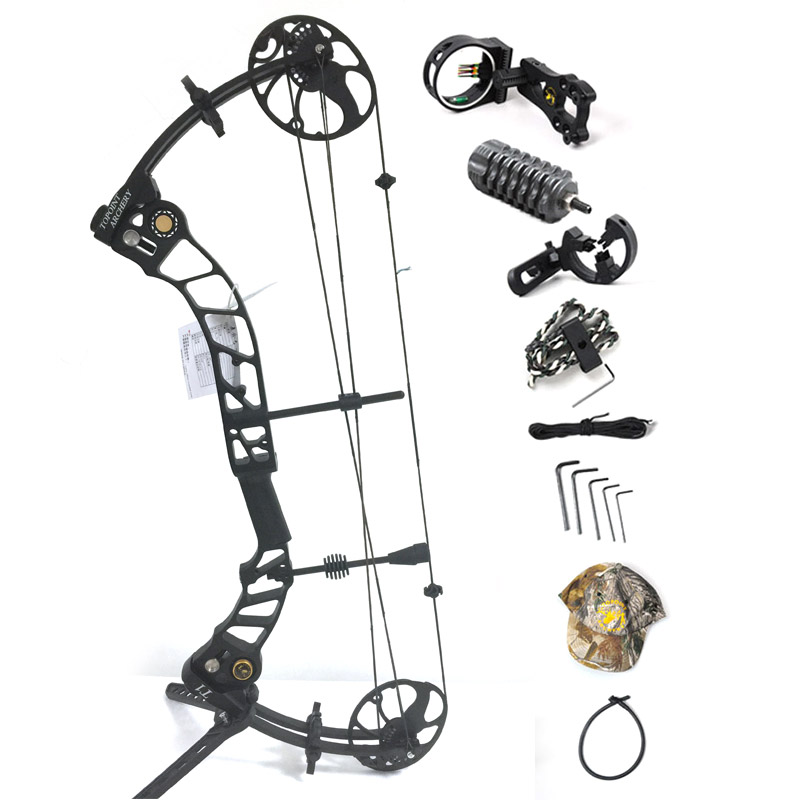 Topoint Archery Left hand bow, compound bow,With 20-70 lbs Draw Weight, black color for human outdoor hunting, Archery bow bow 929054