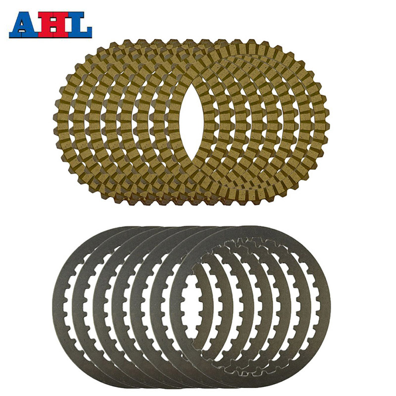 Motorcycle Engine Parts Clutch Friction Plates Kit & Steel Plates For Harley Sportster 883 XL883 XL883C XLH883 XL883L