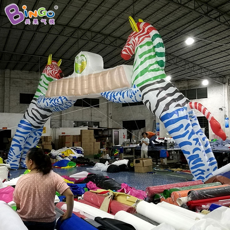 5f6c455d8 Free shipping 8X6m inflatable race arch start finish line with zebra animal  lovely zebra entrance for zoo decoration toy arch-in Inflatable Bouncers  from ...