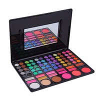Pro 78 Color Pearlescent Eyeshadow Eye Shadow Palette With Cheek Blusher Lip Gloss Long Lasting Makeup