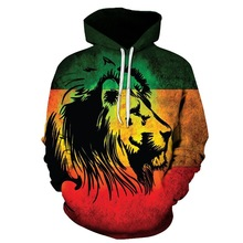 2019 Hot men hoodies Fashion Men/Women hoodie 3D Sweatshirts Starry Colorful Lion Print Hooded Hoodies Unisex Tops
