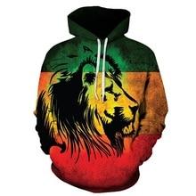 2019 Hot men hoodies Fashion Men/Women hoodie 3D Sweatshirts Starry Colorful Lion Print Hooded Hoodies Unisex Tops