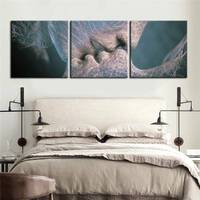 Print Free Shipping E Home Oil Painting Kiss Decoration Painting Home Decor On Canvas Modern Wall Prints Set Of 3