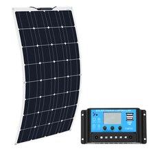 컨트롤러 10a와 Boguang 16V 100 W 태양 전지 패널 Sonnenkollektor 100 와트 유연한 placa 태양 12v Monocrystalline 배터리 100 w
