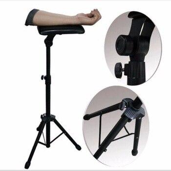 جديد 2016 الحديد الوشم الذراع منضدة الساق حامل المحمولة كرسي قابل للتعديل بالكامل ل الوشم استوديو العمل امدادات السرير البراز 65-125 سنتيمتر
