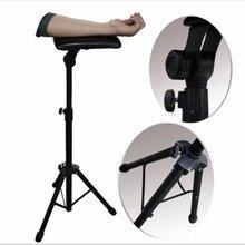 Cadeira totalmente ajustável portátil do suporte do descanso da perna do braço da tatuagem do ferro novo 2016 para o tamborete 65 125cm da cama da fonte do trabalho do estúdio da tatuagem