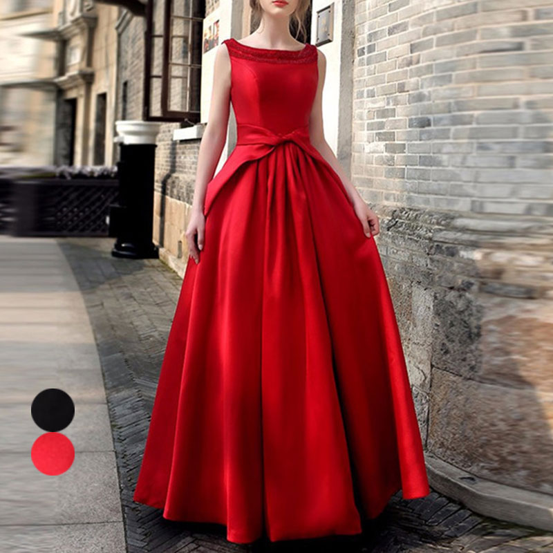 Sexy Women Sleeveless Pleated Maxi Dress Backless Evening Prom Party Gown Dresses H9