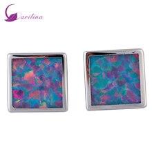 hot deal buy fashion bijoux square purple opal silver jewelry women's earrings cute tortoise fashion jewelry e396