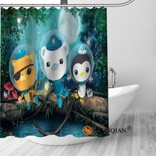 octonauts Bath Curtain 100% polyester Fabric Shower Curtain bathroom be
