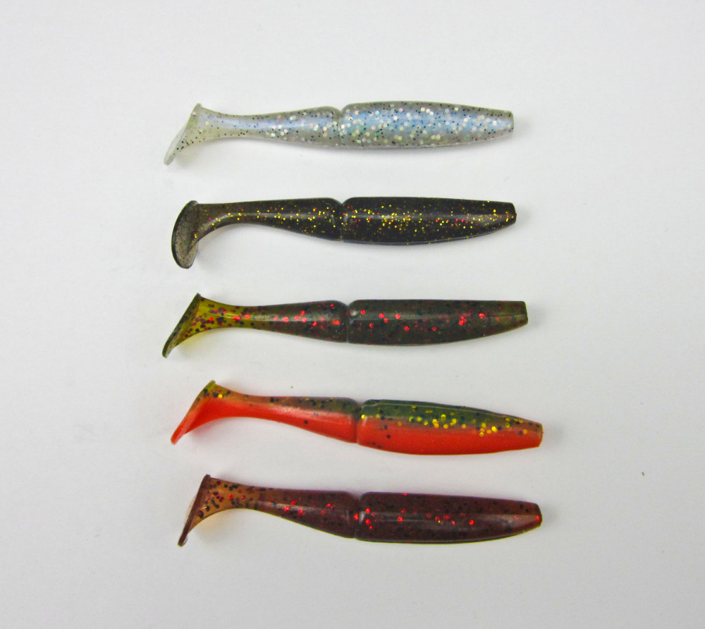 BassLegend - 8 Pcs Japan New Fishing Soft Bait For Bass Plastic Lure Swimbait Soft Shad 85mm/7.2g T Shape Tail mix color package on soft lure 15 cm shad bait soft bait for boat fishing