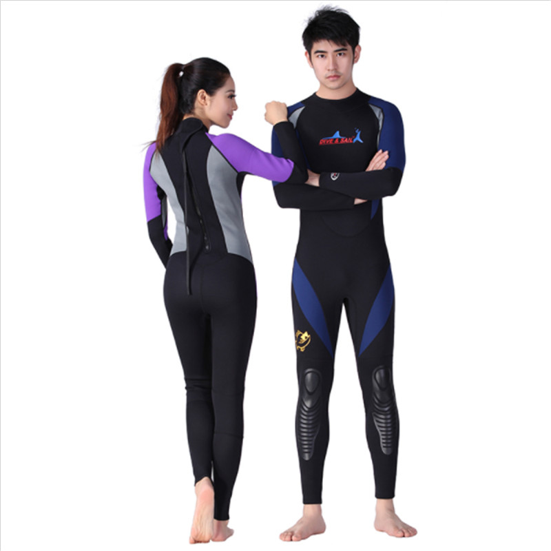 1.5mm Neoprene Men Women Diving Suit Back Zipper Wetsuit Surf Suit Long Sleeve Warm Swimming Snorkeling Diving Suits Swimwear uv suncreensuit men diving wetsuit scuba snorkeling diving suit men rashguard swimming long sleeve swimwear surf suit hmu0026 5