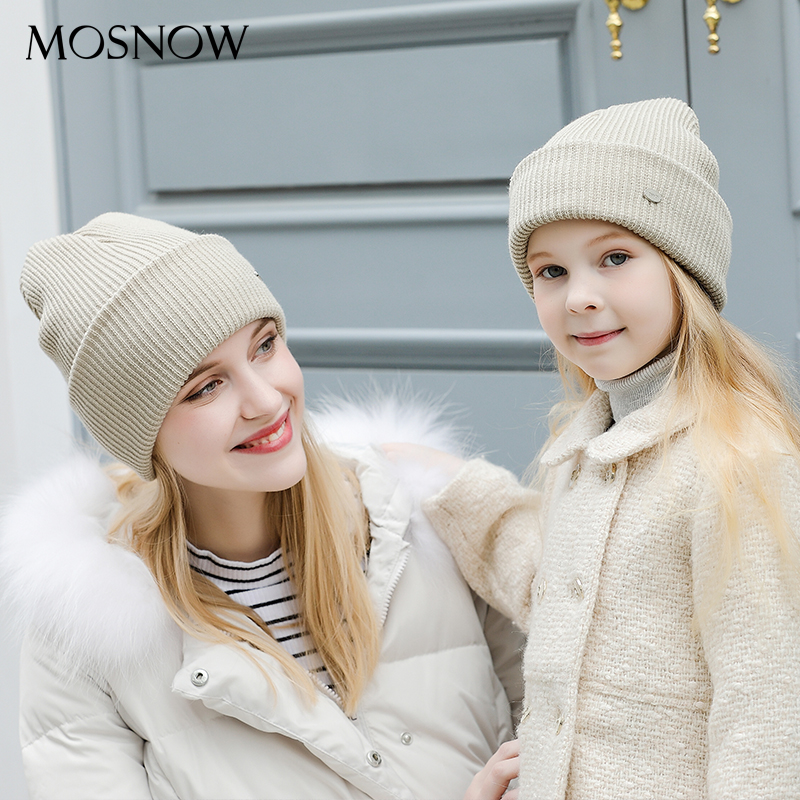 36d4e512ec7 MOSNOW Hat Female Cotton Brand New 2018 Winter Knitted Hot Sale Fashion  High Quality Womens Hats Caps ...