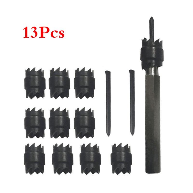 13pcs 3/8 Rotary Spot Weld Cutter Remover Drill Bits with Replacement Blade Kit13pcs 3/8 Rotary Spot Weld Cutter Remover Drill Bits with Replacement Blade Kit