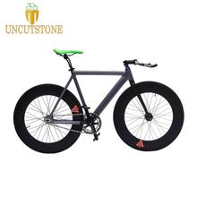 Fixed Gear Bike 54cm fame 90mm rim single speed bike Smooth Welding frame DIY Aluminum alloy Customize Track Bicycle 700C wheel 2015 top quality 54cm smooth welding track bike fixed gear bicycle frame frame and fork together free shipping